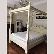 Four Poster Bed Solid Mahogany Wood Chippendale 4 Poster Bed Queen King Size