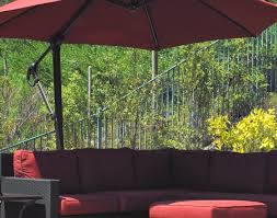 Red Rectangular Patio Umbrella Patio U0026 Pergola Red Rectangle Modern Rattan Umbrella Patio Set