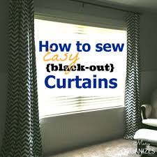 Easy Blackout Curtains How To Sew Easy Black Out Curtains Creatingmaryshome
