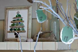 sea glass and driftwood craft