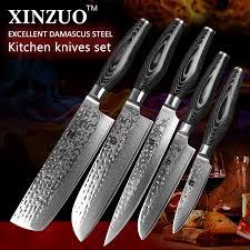 vg10 kitchen knives 5 pcs kitchen knives set japanese vg10 damascus steel kitchen