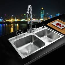 kitchen sink with faucet set satin single kitchen sink and faucet sets handle pull out
