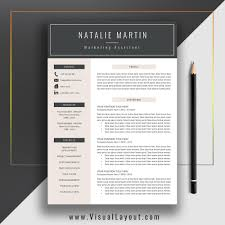 Instant Resume Template Resume Template The Natalie Resume Instant Download