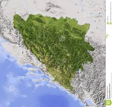 Bosnia Map Bosnia And Herzegovina Shaded Relief Map Stock Images Image