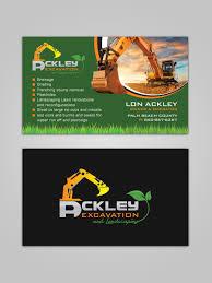 bold playful business card design for lon ackley by sandaruwan