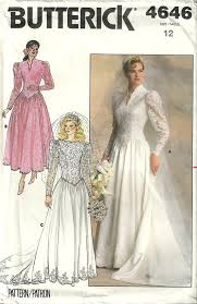 wedding dress patterns patterns butterick 4646 vintage bridal bridesmaid wedding