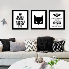 online get cheap wall art canvas batman aliexpress com alibaba american decoration cartoon batman wall art canvas painting posters wall prints nursery wall pictures cuadros no