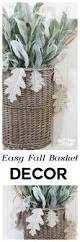 easy diy fall basket wreath with book page garland decorating