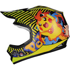 ebay motocross helmets pokemon go pikachu kids motocross youth dirt bike atv offroad
