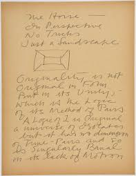 writing a theoretical paper from the harvard art museums collections stuart davis papers archival material art theory text with box perspective diagram
