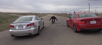 youtube lexus drag watch a bmw m235i shame a v8 lexus is f in a drag race autoevolution