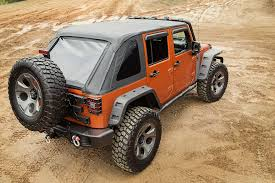 jeep wrangler 2 door soft top rugged ridge announces new bowless soft tops for 2007 2016 jeep