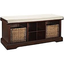Bench With Baskets Amazon Com Crosley Furniture Brennan Entryway Storage Bench With