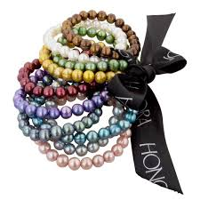 colored pearl bracelet images Barmakian honora set of 10 colored freshwater pearl bracelets jpeg