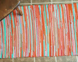 Rag Rugs For Kitchen Entry Rug Etsy