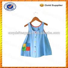 custom vintage blue jean kids girls jumper dress sleeveless party