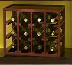 cube stack 12 bottle wood wine rack
