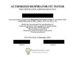 respclearance com respirator medical evaluation and fit tester