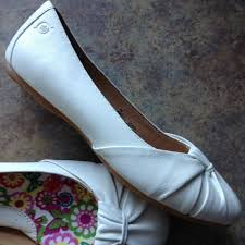 born adele flats born shoes new adele white ballet comfort flats leather poshmark