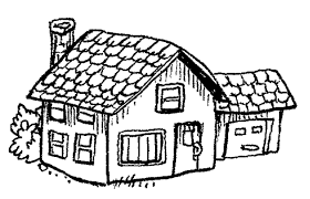 coloring pages of houses many interesting cliparts