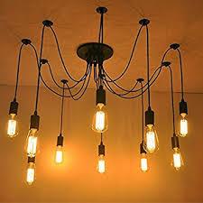 Spider Chandelier 10 Lights Edison Retro Spider Chandelier Pendant Light 110 220v