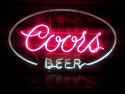 vintage coors light neon sign 1960 s coors beer pink white neon sign nex tech classifieds
