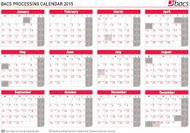 bacs processing calendar 2015 gocardless