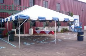 Striped Canopy by Striped Frame Tent Baker Tent Rental