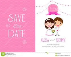 Marriage Invitation Sample Wedding Invitation Template Card Cartoon Stock Vector Image