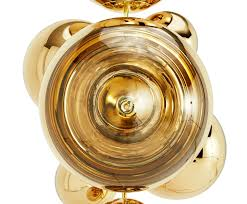 mirror ball stand chandelier designed by tom dixon orange skin
