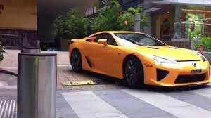 lexus used car singapore lexus lfa departing from hilton singapore youtube