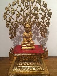 unknown buddha sitting the bodhi tree sculpture at 1stdibs