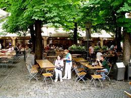 panoramio photo of hofbräuhaus biergarten patio con castaños de