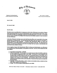offer letter to lenora reid from richmond richmond com