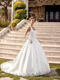 robe de mari e satin 2017 vintage satin robe de bal robes de mariée halter dentelle