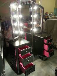 black vanity set with lights amazing makeup vanity table with lights foter within bedroom