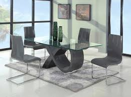 furniture wood base glass top dining table 89 with wood base