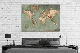 tableau deco pour bureau superbe tableau deco pour bureau 3 tableau carte du monde vintage