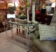 Chrome And Glass Sofa Table Metal Sofa Table With Glass Top Foter