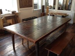 reclaimed wood dining table ructic