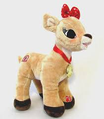 clarice rudolph red nosed reindeer plush light musical 50th