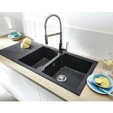 evier cuisine noir 2 bacs evier a encastrer noir 2 cuves pyrite