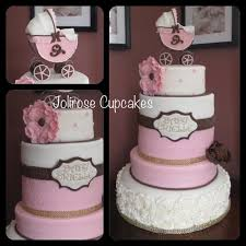 pink and brown baby shower baby shower cake ideas pink and brown