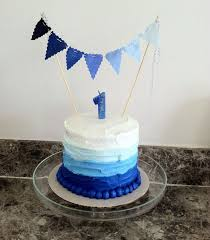 blue ombre birthday party diy details by houseofroseblog com