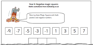 adding negative and positive numbers worksheet year 6 maths worksheet negative numbers magic square maths
