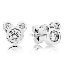 mickey mouse earrings pandora disney dazzling mickey earrings 290577cz ben bridge