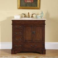 Inch Single Sink Bathroom Vanity With Choice Of Top UVSRL - 36 inch single sink bathroom vanity