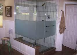 shower door glass cleaner shower gripping etched frameless shower doors favored etched