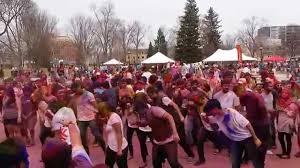 holi celebration at park on canada