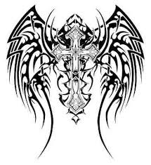 tribal wing tattoo clipart panda free clipart images